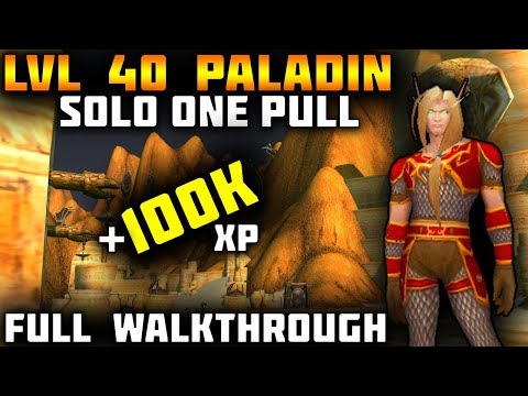 Paladin TBC AOE Leveling Guide 40-52   Solo One Pull ZF Graveyard