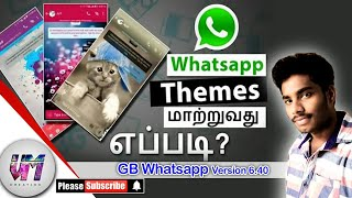 How to set themes in gb whatsapp in tamil tutorial 2018