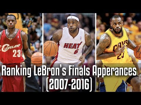 Ranking LeBron's GREATEST Finals Appearances! (2007-2017)