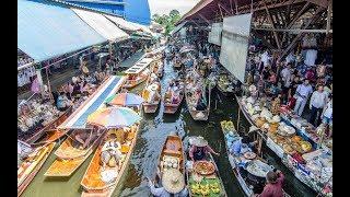 LARGEST FLOATING MARKET IN THAILAND- DAMNOEN SADUAK FLOATING MARKET, THAILAND