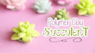 Easy Succulent Design│Polymer Clay Tutorial