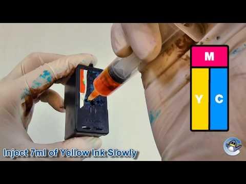 How to Refill Lexmark 1, 2, 33, 35, 37A, 37XLA, 15A, 41A, 43XL & 5A Colour Ink Cartridges