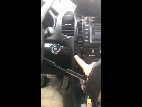 как снять блок управления климат контроля Kia SORENTO XM 2012 г.в.