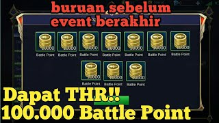 Event terbaru 100WorkCara dapatkan 10.000 Battle points di Mobile Legends