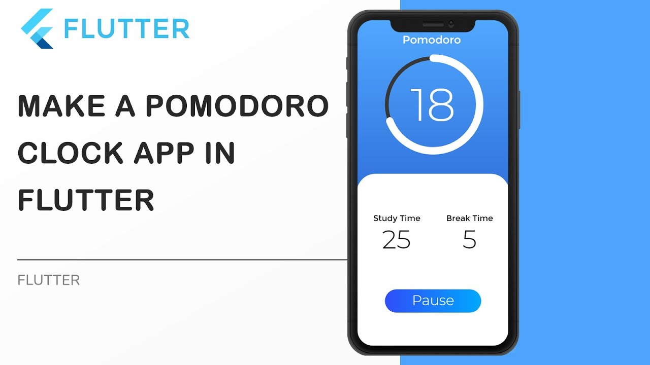 Timer Clock App using Flutter