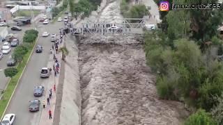 😰Río Moquegua - Precisos INSTANTES del ingreso del río 05 Febrero 2019 thumbnail