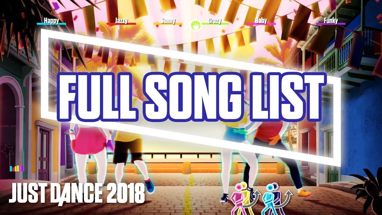 Just Dance 2018: Full Song List | Ubisoft [US]