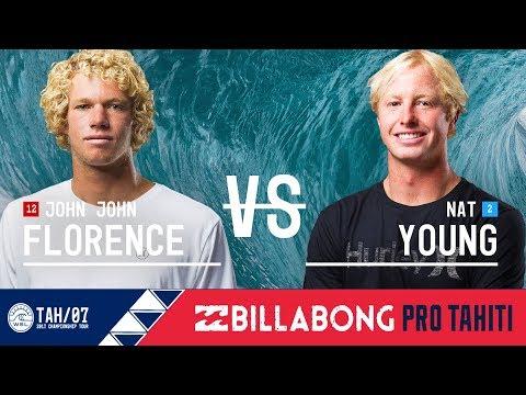 John John Florence vs. Nat Young - Round Three, Heat 7 - Billabong Pro Tahiti 2017
