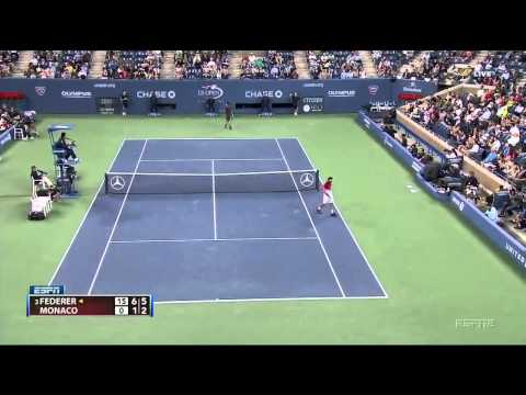 Federer vs Monaco US Open 2011 4th Round
