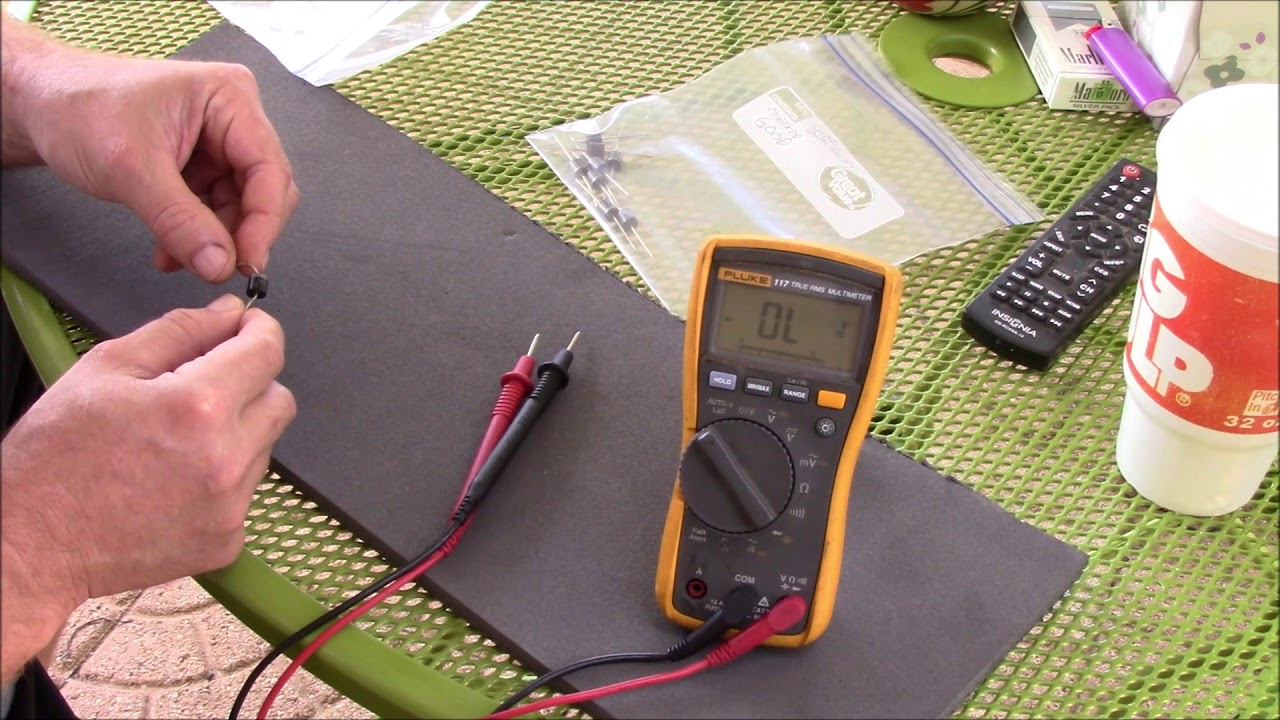 How To Test Solar Panel Schottky Blocking Diodes Fluke 117 Trms Diode Wiring Multimeter