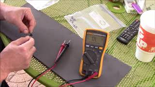 How to test solar panel Schottky blocking diodes - Fluke 117 TRMS multimeter