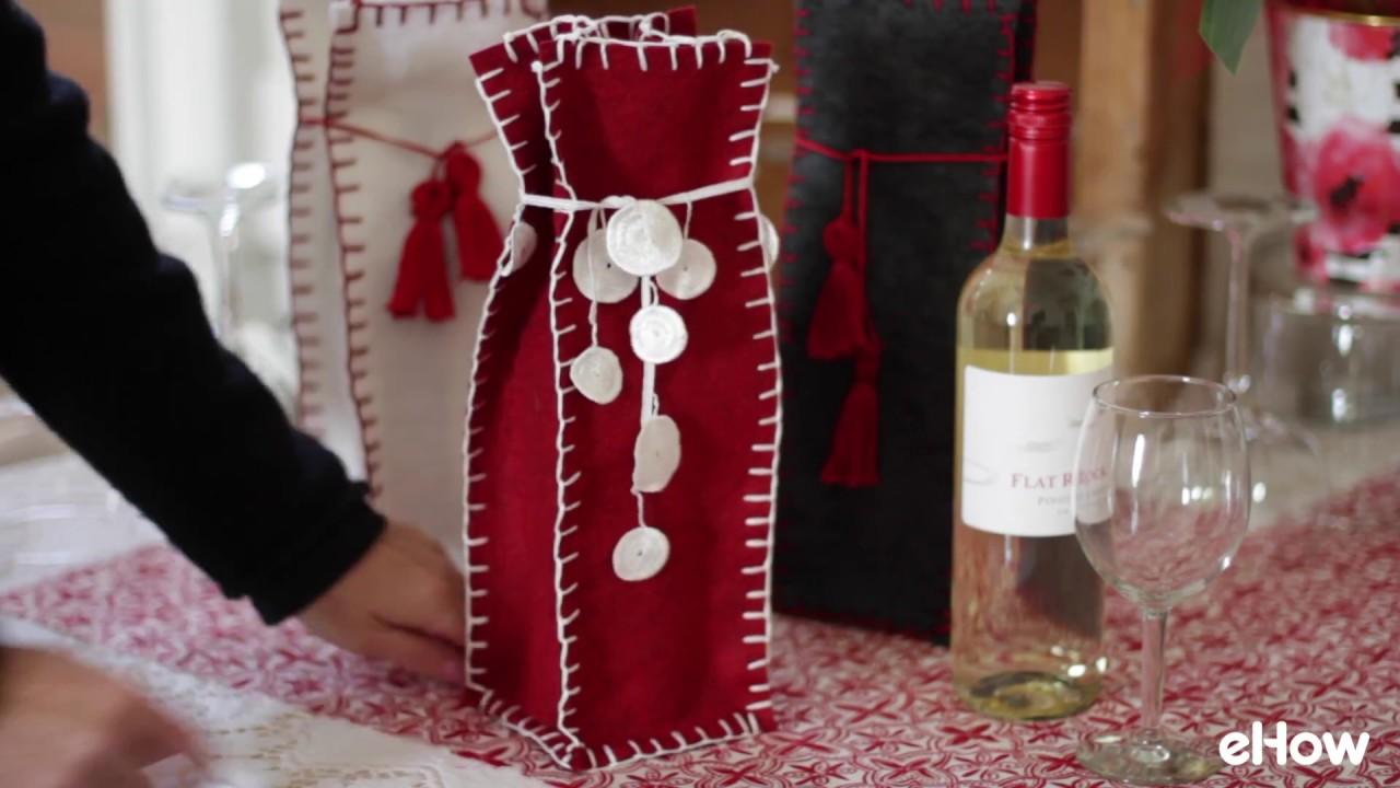 Easy Hand Sewn Felt Gift Bag Tutorial Youtube