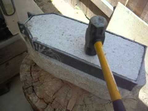 Blacksmiths Anvil Homemade With Granite Rock Using An