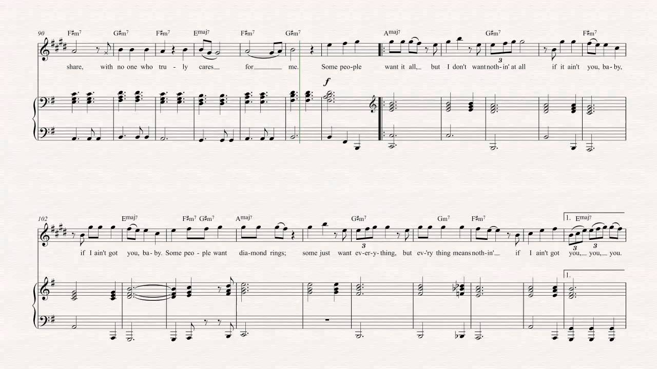 Alto sax if i aint got you alicia keys sheet music chords alto sax if i aint got you alicia keys sheet music chords vocals youtube hexwebz Images