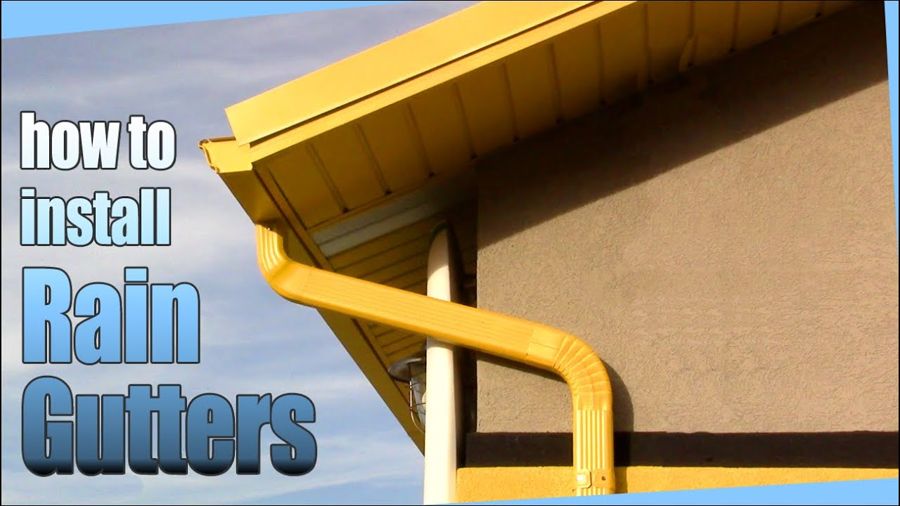 How to install rain gutters diy youtube solutioingenieria