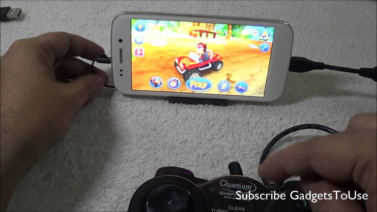 Tip Play Games on Android Phone With PS3, USB Controller Demo Done ...