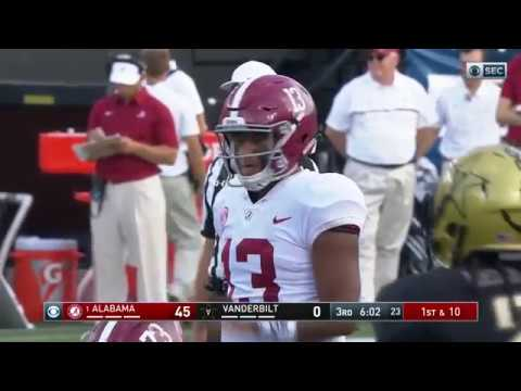 Tua Tagovailoa Amazing Touchdown Pass vs Vanderbilt!!! 2017 (HD)