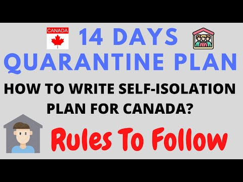 Flying To CANADA | 14 Days Quarantine Plan| Must Know About How To Write Quarantine Plan | Rules
