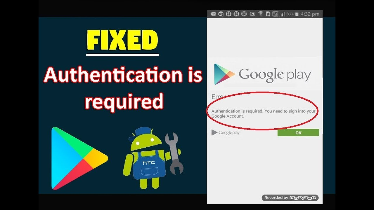 High Quality Fix Authentication Is Required You Need To Sign In To Your Google Account  In Android