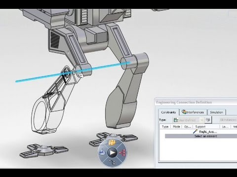CATIA V6 | Mechanical Design & Engineering | Assembly Live Smart Positioning
