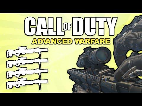 Quad Feed with Every Gun! (Call of Duty: Advanced Warfare)