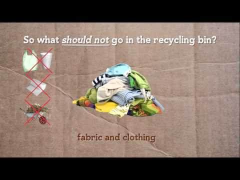 Using your household recycling bin service