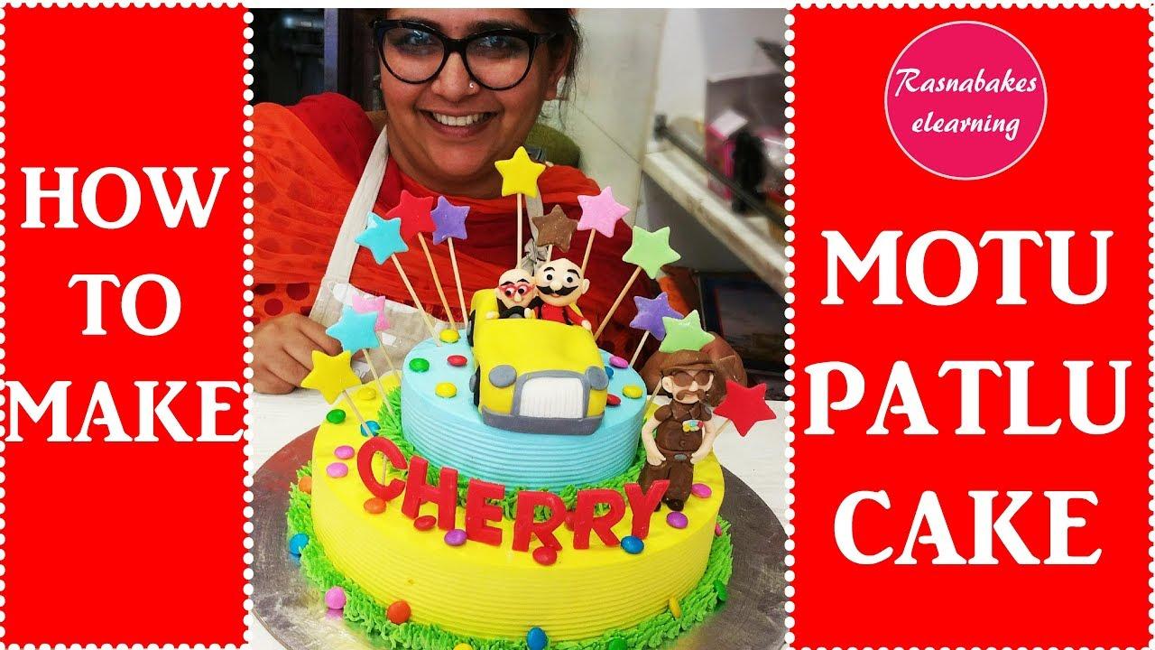 How To Make Motu Patlu Cake Decorating Tutorial Youtube