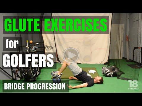 Glute Exercises for Golfers: Bridge Progression
