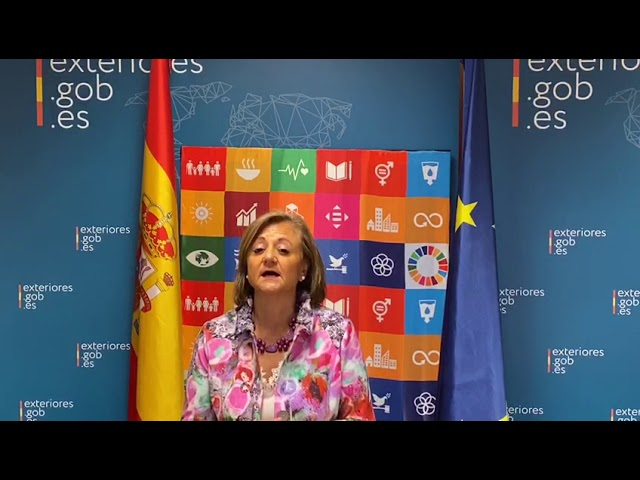 Cristina Gallach, Secretary of State for Foreign Affairs & for Ibero-America & Caribbean #Act4SDGs