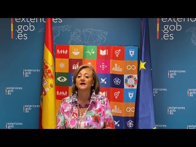 Cristina Gallach, Secretary of State for Foreign Affairs & for Ibero-America & Caribbean #Act4SDGs