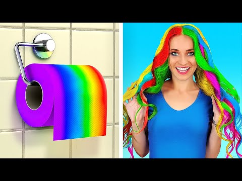 CRAZY TOILET PAPER HACKS || Easy DIY Ideas With Toilet Paper by 123 GO!