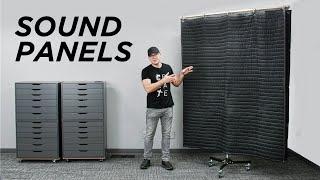 GIANT DIY Sound Blanket Panels For Better Audio and Lighting!