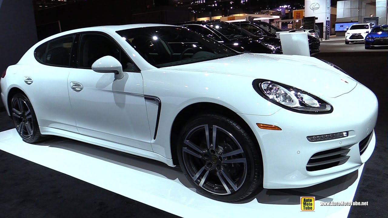 2016 porsche panamera 4 exterior and interior walkaround 2016 chicago auto show - Porsche Panamera White Red Interior