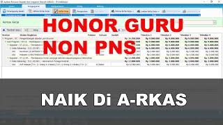 Memasukkan Honor Guru Di Rkas Online 2020  Arkas