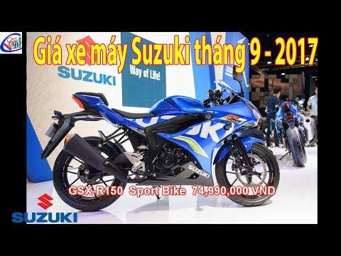 Bảng Giá Xe Máy Suzuki Chi Tiết Tháng 2 - 2018