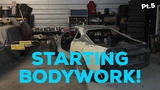 Pt.5 MKIV Supra Project!   Starting bodywork!   Cleaning shop! thumbnail