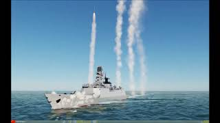 DCS AI Ship and aircraft battle TEST