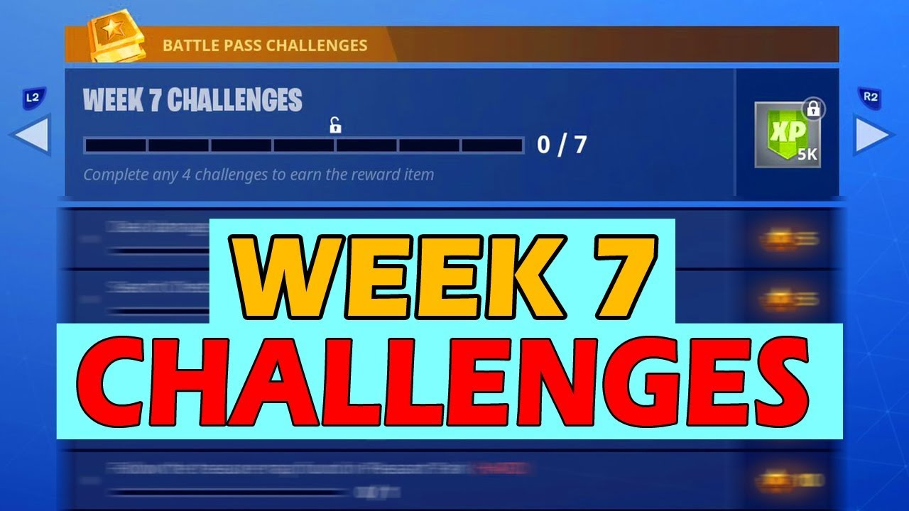 All Fortnite Week 7 Challenges Battle Pass Full Easy Guide Pleasant