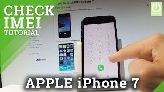 Gambar cover How to Check IMEI in iPhone 7 - APPLE IMEI Number