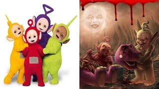 Teletubbies Characters As Monsters | All Characters 2017