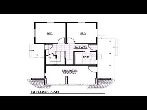 1 Story 3 Bedroom 2 Bath House Plans