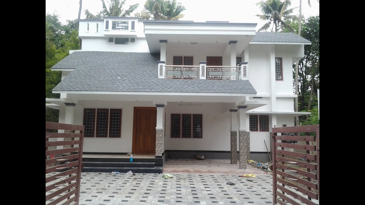 House Compound Wall Design Furnished : Fully finished house near mc road for sale in kalady