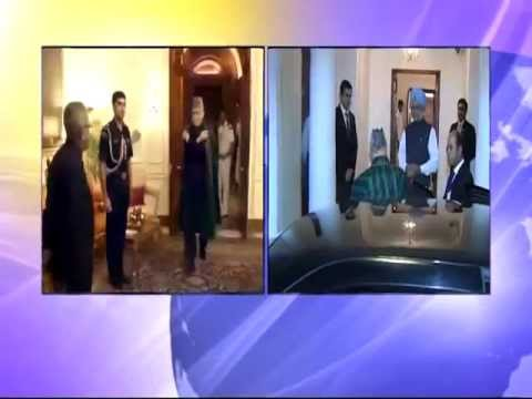News Night: Hamid Karzai meets Indian PM and President