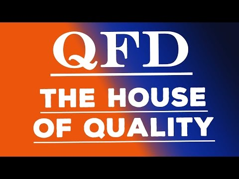 Quality Function Deployment - The House Of Quality