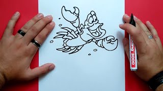 Como dibujar a Sebastian paso a paso - La sirenita | How to draw Sebastian - The Little Mermaid