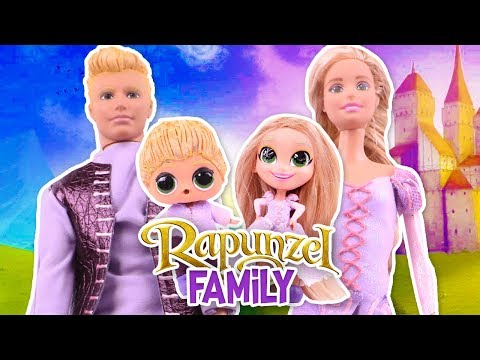 The RAPUNZEL FAMILY with custom BARBIE & LOL DOLLS! - Toy Transformations