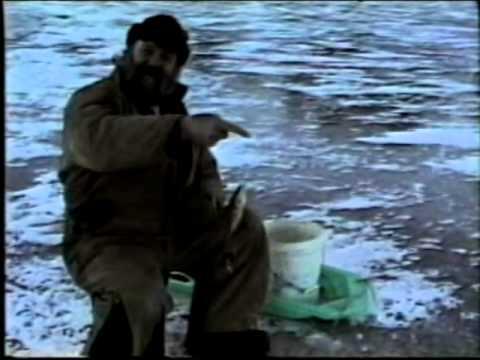 Ice Fishing On Lake Memphremagog Newport VT 1999