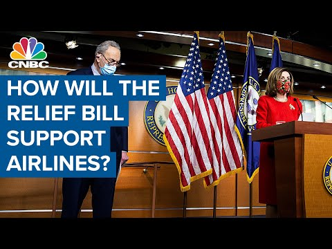 What's in the Covid-19 relief bill to support the airlines?