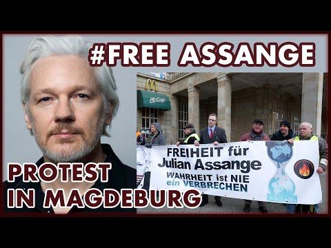Freiheit für Julian Assange: Mahnwache in Magdeburg #FreeAssange