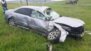 accident audi A8 Podu Iloaiei